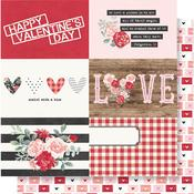 4x6 Horizontal Elements Paper - Kissing Booth - Simple Stories