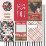 4x6 Vertical Elements Paper - Kissing Booth - Simple Stories