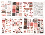 4x6 Stickers Sheet - Kissing Booth - Simple Stories