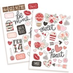 Puffy Stickers - Kissing Booth - Simple Stories