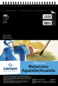 "10 Sheets - Canson Montval Spiral Watercolor Pad 9""X12"""