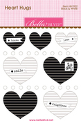 Black & White Mini Heart Hugs - Bella Blvd