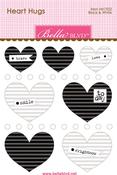 Black & White Mini Heart Hugs - Bella Blvd