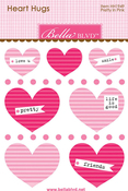 Pretty In Pink Mini Heart Hugs - Bella Blvd