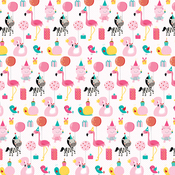 "Party Animal - Wish Big Girl Double-Sided Cardstock 12""X12"""