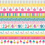 """Borders - Wish Big Girl Double-Sided Cardstock 12""""X12"""""""