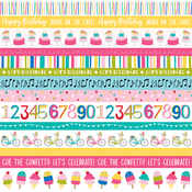 Borders Paper - Wish Big Birthday Girl - Bella Blvd - PRE ORDER
