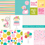 "Daily Details - Wish Big Girl Double-Sided Cardstock 12""X12"""