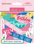 Ephemera, Shapes, Tabs & Words - Wish Big Girl Cardstock Die-Cuts