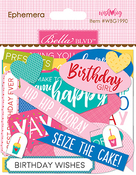Ephemera, Shapes, Tabs & Words - Wish Big Girl Cardstock Die-Cuts