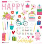 "Icons - Wish Big Girl Chipboard Stickers 12""X12"""