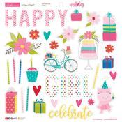 Chipboard Stickers - Wish Big Birthday Girl - Bella Blvd - PRE ORDER