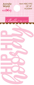 Hip Hip Hurray Acrylic Word - Wish Big Birthday Girl - Bella Blvd - PRE ORDER