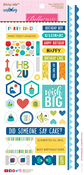 "Sticky Mix - Wish Big Boy Cardstock Stickers 6""X12.5"""