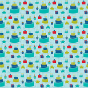 "Cake Time - Wish Big Boy Double-Sided Cardstock 12""X12"""