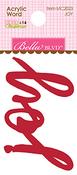 Joy - Merry Christmas Acrylic Word