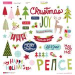 "Icons - Merry Christmas Chipboard Stickers 12""X12"""