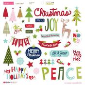 """Icons - Merry Christmas Chipboard Stickers 12""""X12"""""""