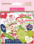 Ephemera, Shapes, Tabs & Words - Merry Christmas Cardstock Die-Cuts