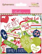 Ephemera, Shapes, Tabs & Words - Merry Christmas Cardstock Die-Cuts
