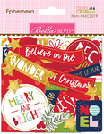 Ephemera, Shapes, Tabs & Words W/Foil - Merry Christmas Cardstock Die-Cuts
