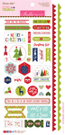 "Sticky Mix - Merry Christmas Cardstock Stickers 6""X12.5"""
