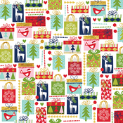 """Giving - Merry Christmas Gold Foiled Double-Sided Cardstock 12""""X12"""""""