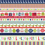 """Borders - Merry Christmas Gold Foiled Double-Sided Cardstock 12""""X12"""""""