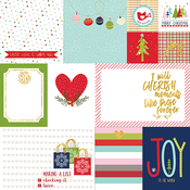 """Daily Details - Merry Christmas Gold Foiled Double-Sided Cardstock 12""""X12"""""""