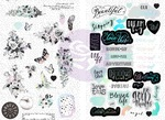 Flirty Fleur Chipboard Stickers - Prima