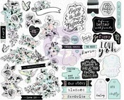 Flirty Fleur Sticker Sheets - Prima
