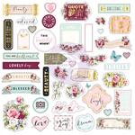 Misty Rose Ephemera Sticker - Prima