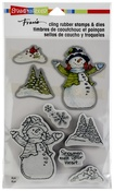 Snowman Cardinals - Stampendous Cling Stamp & Die Set