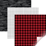 "Rustic Lodge, Lumber Jack - Cricut 12""X12"" Patterned Premium Vinyl Sampler 6/Pkg"