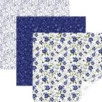 """In Bloom Blue - Cricut 12""""X12"""" Patterned Premium Vinyl Sampler 6/Pkg"""