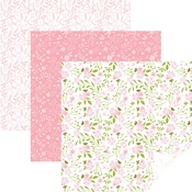 "In Bloom Pink - Cricut 12""X12"" Patterned Premium Vinyl Sampler 6/Pkg"