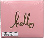 """Gold Hello - Heidi Swapp Storyline 2 Post Bound Album 12""""X12"""""""
