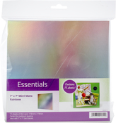 "Rainbow Holographic - Hunkydory Mirri Super-Reflective 7""X7"" Cardstock Mats 75/Pkg"