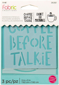 "Coffee - Fabric Creations Adhesive Stencil 3""X3"""