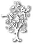 Scrolly Bird Tree - Tutti Designs