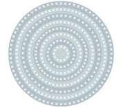 Nesting Cross Stitch Circle Dies - Tutti