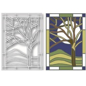 Winter Tree Stained Glass Die - Tutti