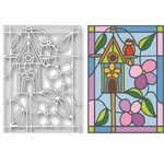 Birdhouse Stained Glass Die - Tutti