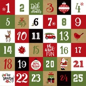 Christmas Countdown Paper - Celebrate Christmas - Echo Park