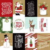 3x4 Journaling Cards Paper - Celebrate Christmas - Echo Park