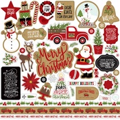 Celebrate Christmas Element Sticker Sheet - Echo Park
