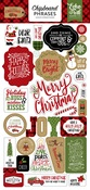 Celebrate Christmas Chipboard Phrases - Echo Park