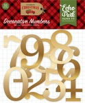 Celebrate Christmas Gold Foil Numbers - Echo Park