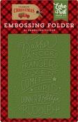 Embossing Folder Reindeer Names - Echo Park