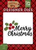Merry Christmas Holly Die Set - Echo Park